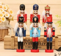 6Piece/lot 2015 Cute 12CM The Nutcracker Soldier Puppet Zakka Home Furnishing Ornaments Kids Gift  2339