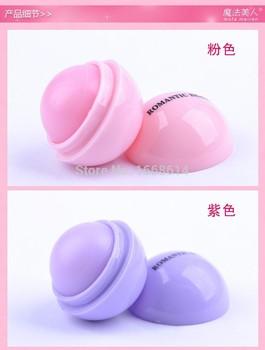 6 цветов новый бренд макияж круглый шар увлажняющий бальзам для губ натуральных растительных сфера для губ помада помада фрукты украсьте губ