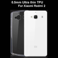 0.5mm Ultra Thin Transparent High Clear TPU Cover Phone Case For Xiaomi Redmi 2