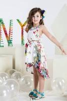 2015 New summer children's clothing girls national wind flower embroidery dress Baby Girls Dress Floral Children Dress