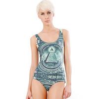 Sky digital printing of dollars hot swimsuit 2015 fashion bikini