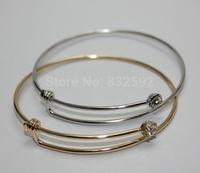 Free shipping 2015 Hot Fashion Alex and ani Alloy Crystal Rhinestone wire steel ring bracelet Women Jewelry Bangles