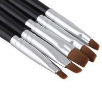 [High Quality] 5PCS Nail Art Acrylic UV Gel Salon Pen Flat Brush Kit Dotting Tool wholesale