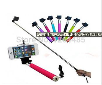 Горячая распродажа 2 в 1 беспроводная связь Bluetooth монопод штатив Selfie ручной придерживайтесь держатель автопортрет для iPhone Samsung iOS андроид