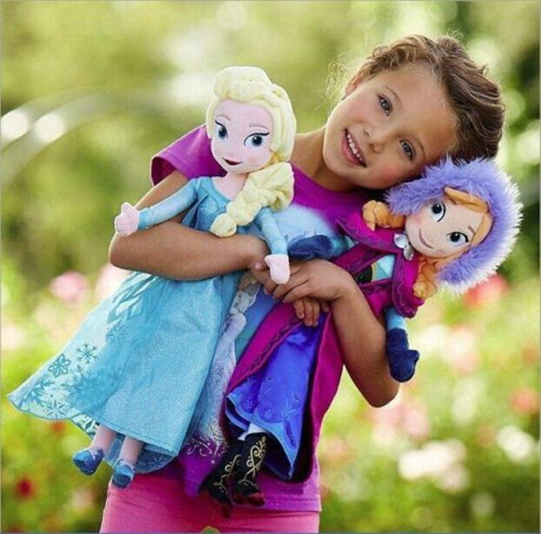 "2015 New Genuine Elsa Anna Plush Doll 40cm "" Princess Doll Plush Toys Brinquedos Kids Dolls for Girls Free Shipping(China (Mainland))"