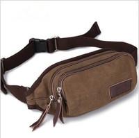 fashion men's casual  canvas bag Waist Bag 5003 Black and Brown