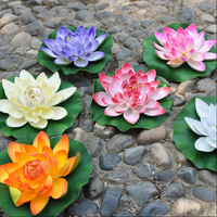 """6COLORS available DIA28cm/11"""" artificial lotus flower water lily water fish tank features decoration peoperties props"""