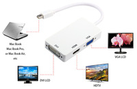 High Quality 2015 Mini DP Combo 3 in1 Mini DisplayPort DP Adapter To HDMI VGA To Hdmi DVI  For Apple Macbook Pro 2 3