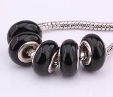 F174 5PCS Free Shipping Murano Glass Beads 925 silver cord fit European Pandora Jewelry Braclet Charms DIY /ievaqwca ipbargia