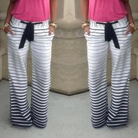 on sale 2015 Fashion Long Pants Joggers Sportpants Striped Casual Trousers