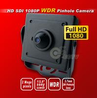 Free shipping HD SDI 1080P Pinhole WDR cctv camera 2.4M1/2.8''Panasonic Sensor digital security camera 3.7MM 2M pinholelens OSD