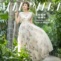 free ship luxury rose pattern veil long dress vintage medieval dress Renaissance princess Victorian dress/Marie long dress