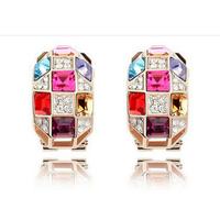 Wedding Jewelry Women Earrings Bijoux  Genuine  Austrian Crystal Earrings for women