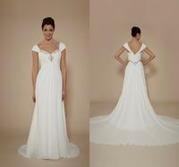 Robe De Mariage A-line Long Train Chiffon Sweetheart Wedding Dresses Custom Made Fashionable Bridal Gowns Vestidos De Novia 2015