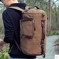 2014 new travel mountaineering man portable shoulder Shoulder Bag Canvas backpack