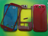 1Pcs Red Full Housing Cover Case+Outer Screen Glass Lens For Samsung Galaxy S3 i9300+Tools+Free Shipping
