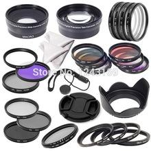 52mm Complete Lens Filter Wide Angle  Marco lens Telephoto Lens Set for Nikon D600 D7100 D7000 D5000 D3100 D3000 LF131-SZ(China (Mainland))