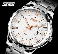 Relogio Masculino Original SKMEI Brand Watch Men Business Watches Stainless Fashion Classic Roman Scale Full Steel Wristwatch