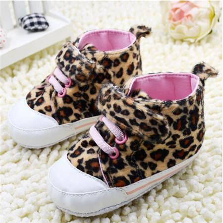 Recém-nascido botas da criança do bebê sapatos meninas sapatos infantis meninas leopard marca bebes macio infantil primeiro walke grátis frete r(China (Mainland))