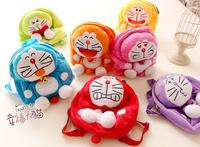 Gift for baby 1pc 27cm cartoon super cute rainbow Doraemon plush backpacks school creative children boy girl shoulder bag toy
