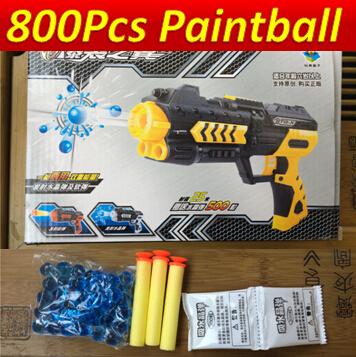 800pcs paintball Nerf airsoft.gun Airgun Soft Bullet Gun Paintball Gun Pistol Plastic Toys CS Game Shooting Water Crystal Gun(China (Mainland))