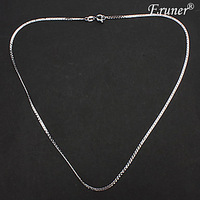 Unisex Silver Plated Alloy Chain Necklace No.15 #00772587