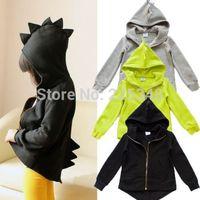 Unisex Boys Girls Kids Dinosaur Winter Coat Jacket Outwear Hoodies Sweatshirt