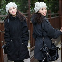 2015 new slim Plus size clothing plus size autumn and winter super large wool coat outerwear