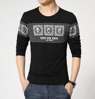 M-XXXL/ Spring 2015 New Fashion Mens T-Shirts O-neck Mens Long Sleeve T-Shirt Casual Cotton Comfort T-shirts Clothing Sportwear