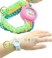 1000PCS the color rubber band portable DIY weave watch suits