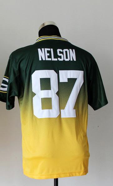 Cheap 87 NELSON yellow jordy nelson jersey football american sports jerseys throwback football jersey(China (Mainland))