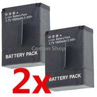 2pcs Gopro hero3 hero3+ hero 3+ 3 Rechargeable Battery (1600mAh) ahdbt-301 for gopro camera