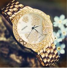 NEW Geneva Butterfly Watch Women Golden Metal woman s casual dress wristwatch Fashion Ladies Relogio Gift