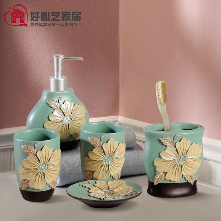 Accesorios De Baño Marcas:de la novedad de flores de peonía accesorios de baño moda juego de