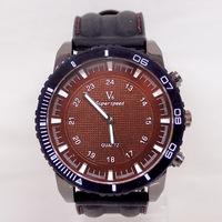 Hot Sale Big Dial Face Silicone Trape Men's Sports Watches V6 Brand Quartz Analog Watch Wristwatches Men V6-4