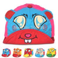 Fashion Infant Baby Cotton Turnip Rabbit Baseball Cap Baby Spring Summer Sun Hat Lovely Toddler Topee Cap 5pcs SW042