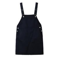 Spring/summer 2015 Europe explosions plus size denim Srap Dresses, loose fat Ladies Solid color Denim Dress L XL XXL XXXL