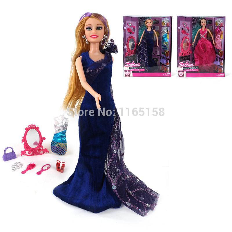 2pcs/lot 800827Original edition The classic version of the new Bobbi doll baby toys Fashion princess baby toys with original box(China (Mainland))