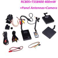 Hot Sale 5.8G AV System 400mW TX RX Wireless FPV Transmitter Receiver CCD Camera 11dBi Panel Antennas for RC toys