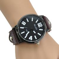 [Free Shipping]Fashion casual mens watch watch male women's vintage quartz white collar genuine leather strap watch