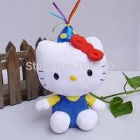 "NWT 2014 Sanrio Ty original Hello Kitty in ~Birthday hat ~ 6""~ STYLISH Stuffed Dolls Plush toy FREE SHIPPING IN HAND!"