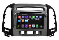 Free shipping Android 4.4 Car DVD GPS HD 1024*600 (Option) for Hyundai SANTA FE 2012 CPU 1.6Ghz,,Radio RDS,BT,TV,IPOD,Wifi,3G