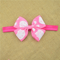 201-5247 A rubber band bowknot Bow Headband   Gold Satin Headband Baby Hair Bows Toddler Headband Newborn Headband  2pcs