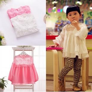 EMS/ DHL free shipping 2015 New Spring Korean Girls Lace Dress Doll Shirt Sleeved Princess Dress(China (Mainland))
