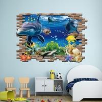 Finding Nemo 3D Wall Stickers Underwater World Wall Decals Fashion Creative Personalized Ocean Aquarium Boy Girl Kid Bedroom