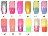 12pcs/Lot Hot Sale 42 Colors Long Lasting And High Gloss Uv&Led Color Changing Gel