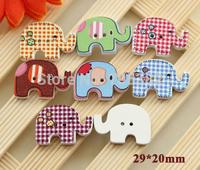 Wood Button. Kawaii elephant design  wooden buttons, scrapbooking, Wholesale wood button (ss-a4386-a414)