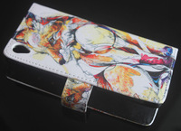 Fox Pattern Leather Flip Stand Wallet Pouch Cover Case For Sony Xperia Z3 D6603 D6653 L55T New