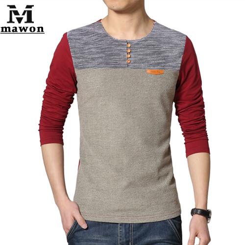 Мужская футболка Mawon 5XL Camisa Masculina Slim Fit MT378 футболка wearcraft premium slim fit printio шварц