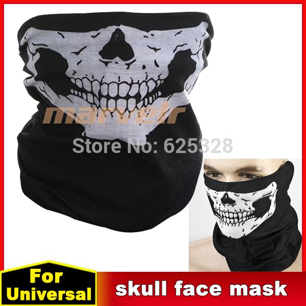 Motorcycle Face Mask Tubular Seamless Half Sport Skeleton Scarf Biker Bandana Neck Cycle Warmer Headwear War Game Breathable(China (Mainland))